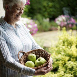 Woman Gardening to Reduce Caregiver Stress
